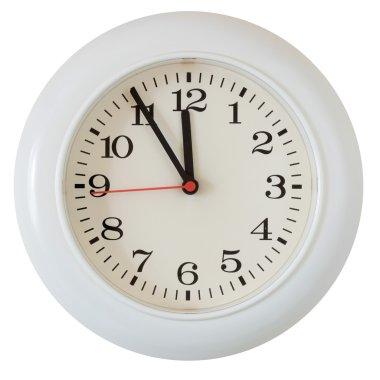 Wall clock dial close-up