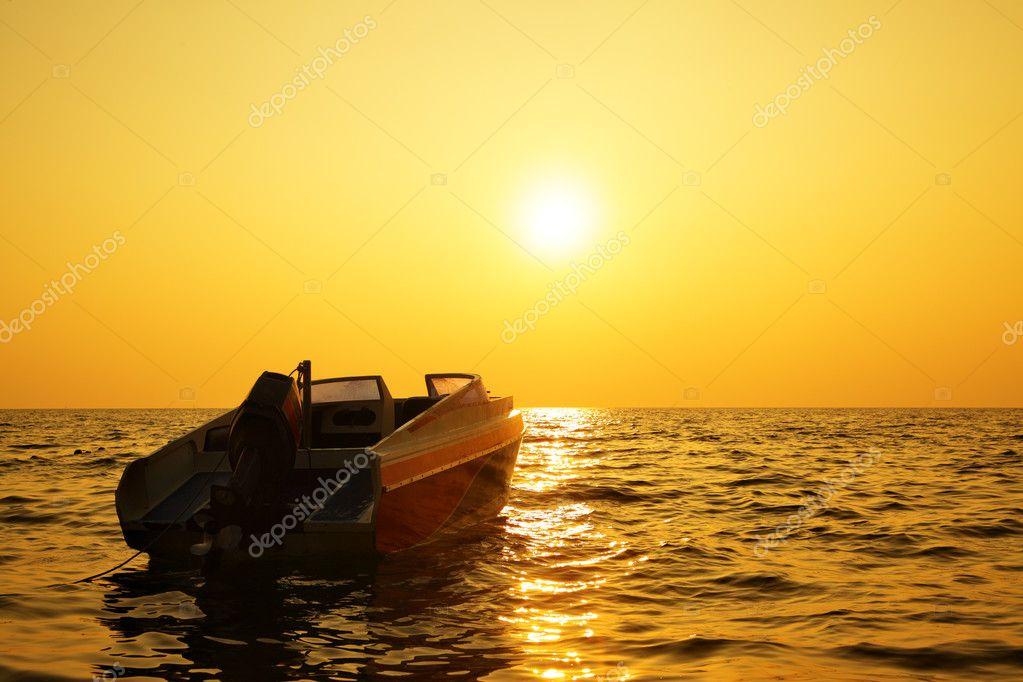 Sea at sundown