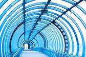 belső üres kék folyosó