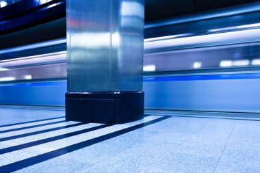 Underground platform interior with move