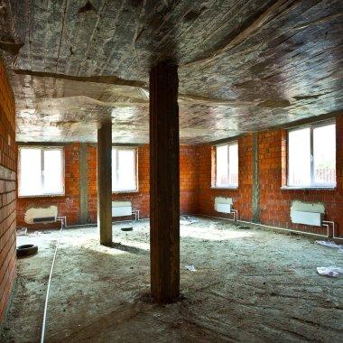 Destroyed dirty interior