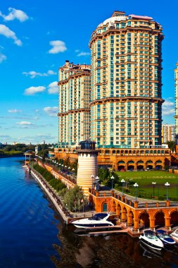 Modern multistory residential constructi