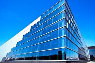 Modern blue office corner