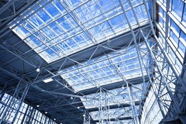 Blue unusual geometric ceiling