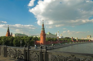 Moscow Kremlin wall and bridge