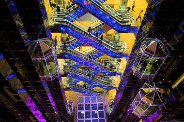 Futuristic hall in mall