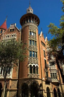 House with spires in Barcelona city