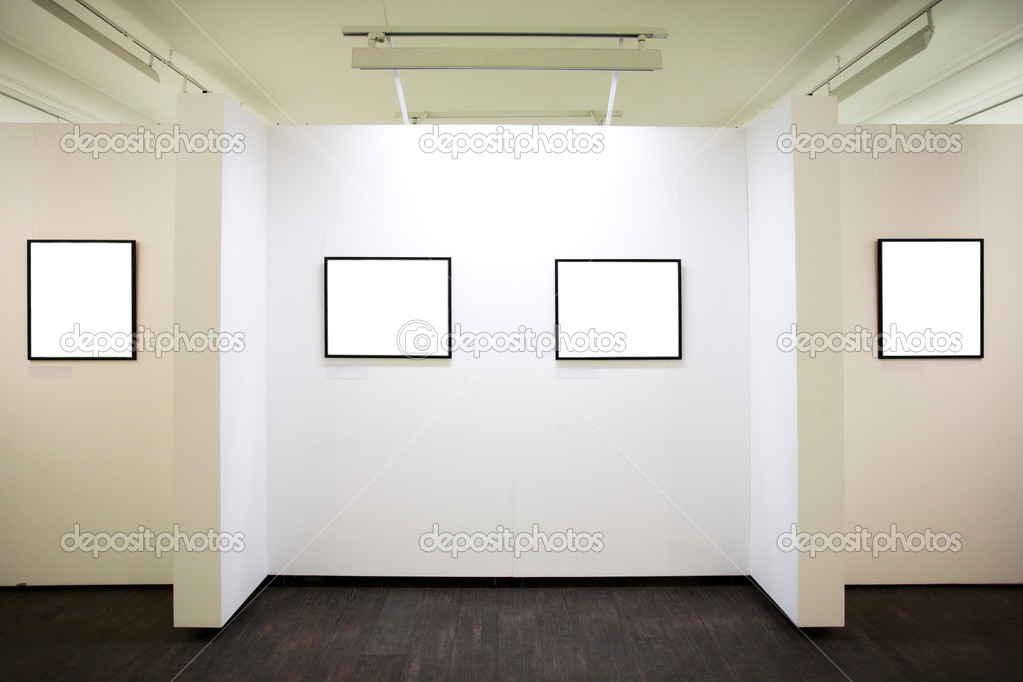 Wall in museum with frames — Stock Photo © babenkodenis #1329899