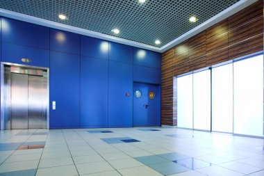 Business lounge doors