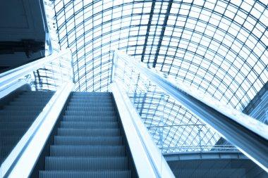 Escalator in shopping center, Moscow