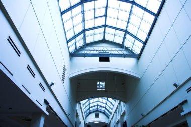 Ceiling inside modern office