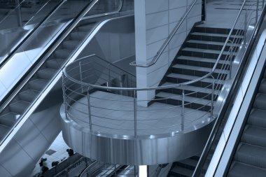 Escalator and stairs
