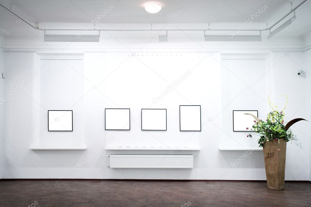 wall in museum with frames stock photo 1330335 - Museum Frames
