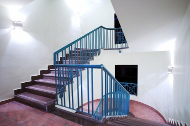 Stairway in hotel and lobby