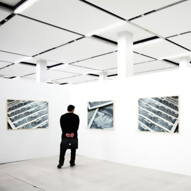 Frames on exposition with photo