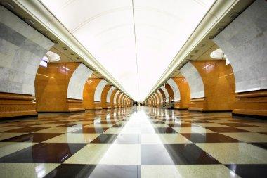 Empty undeground station