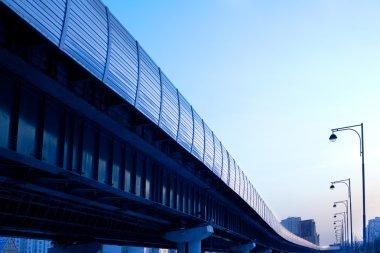 Metro line on columns