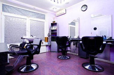Armchairs in hairdressing salon