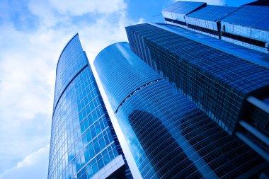 Blue skyscrapers business centre