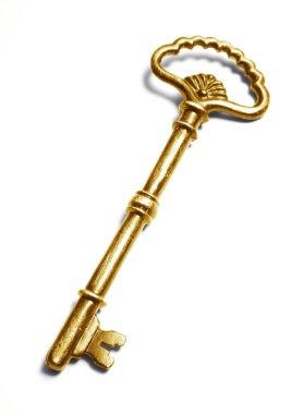Gold vintage key