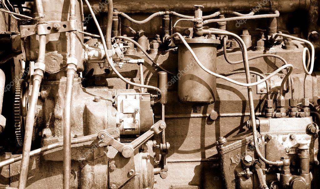 Teil einer alten Automotor — Stockfoto © valphoto #1200559