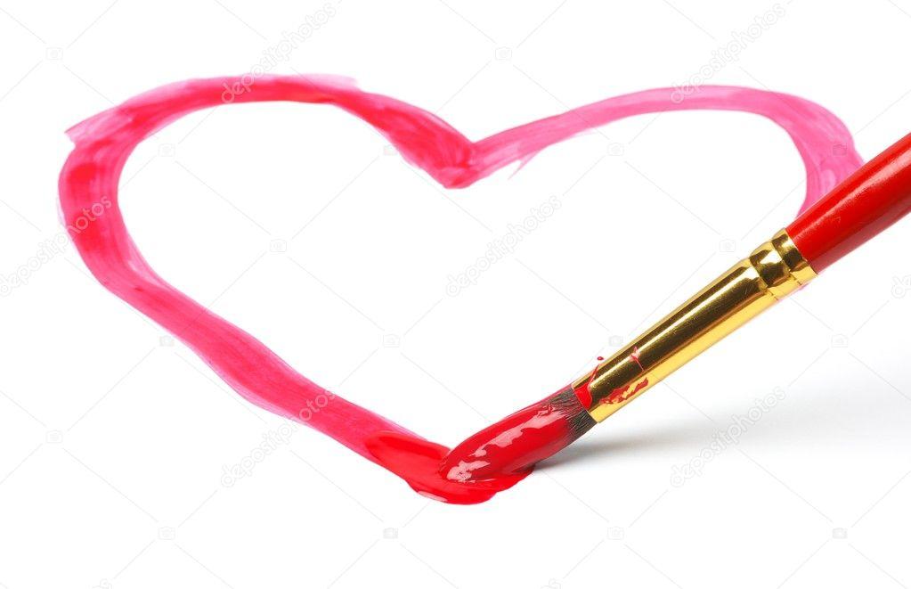 tekening hart — stockfoto © nixite #1238001