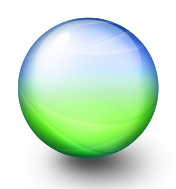 Green and blue sphere