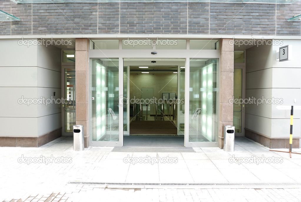 Modrn office entrance