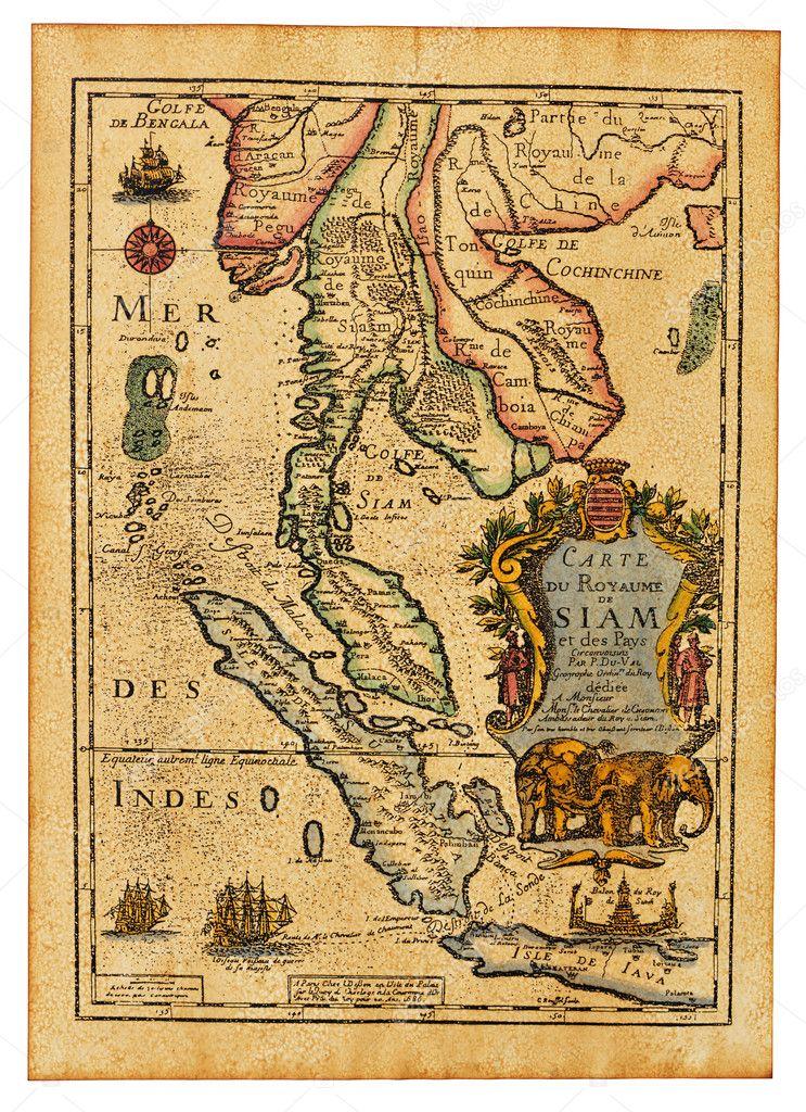 Antique Thailand map