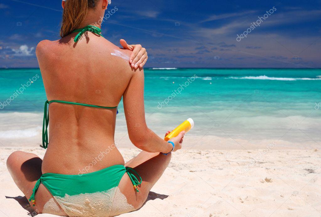 Taking sunbath