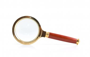 Magnifier on a white