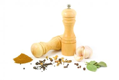 Pepper grinder with set of spices