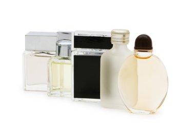 Bottles of perfume isolated