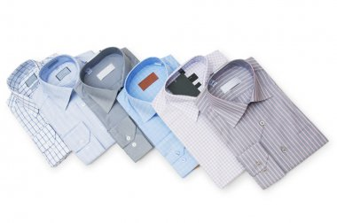 Various shirts isolated on the white