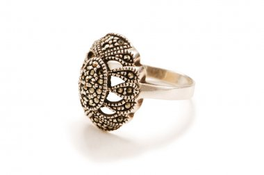 Silver ring isolated on the white