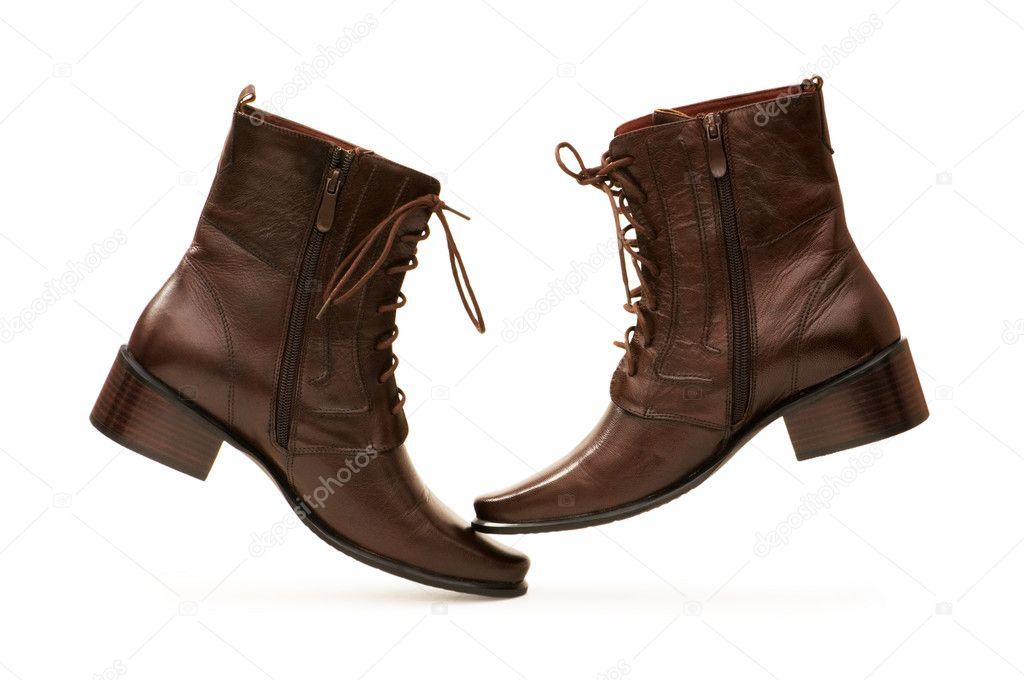 braune Stiefel isoliert auf der weißen — Stockfoto © Elnur   1944717 c182609da7
