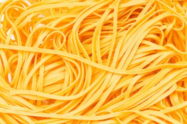 Extreme close up of the spaghetti