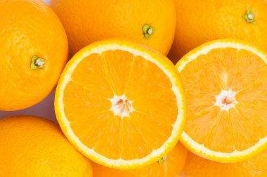 Close up macro shot of oranges