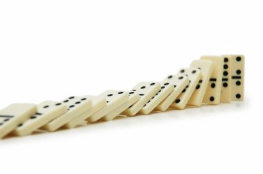 Domino effect - dominos isolated