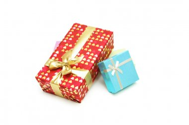Gift boxes isolated on the white