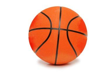 Orange basketball isolated on the white