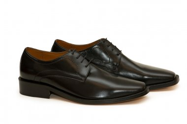 Black male shoes isolated