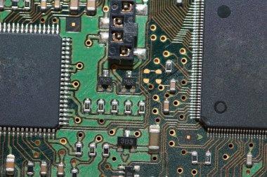 Close-up of computer mainboard