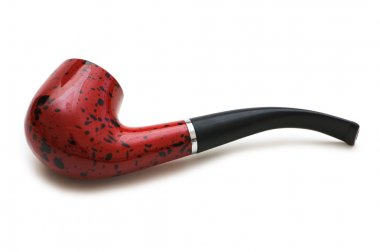 Smoking pipe isolated on thw white