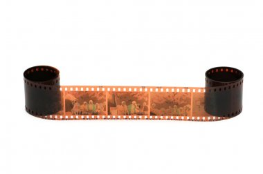 Roll of film isolated on the white