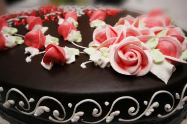 Close up of cake with decoration