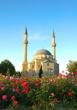 Mosque with two minarets in Baku