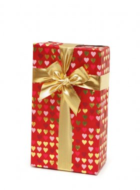 Gift box isolated on the white
