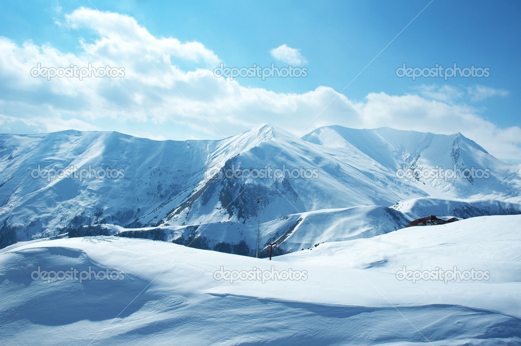 Mountains under the snow