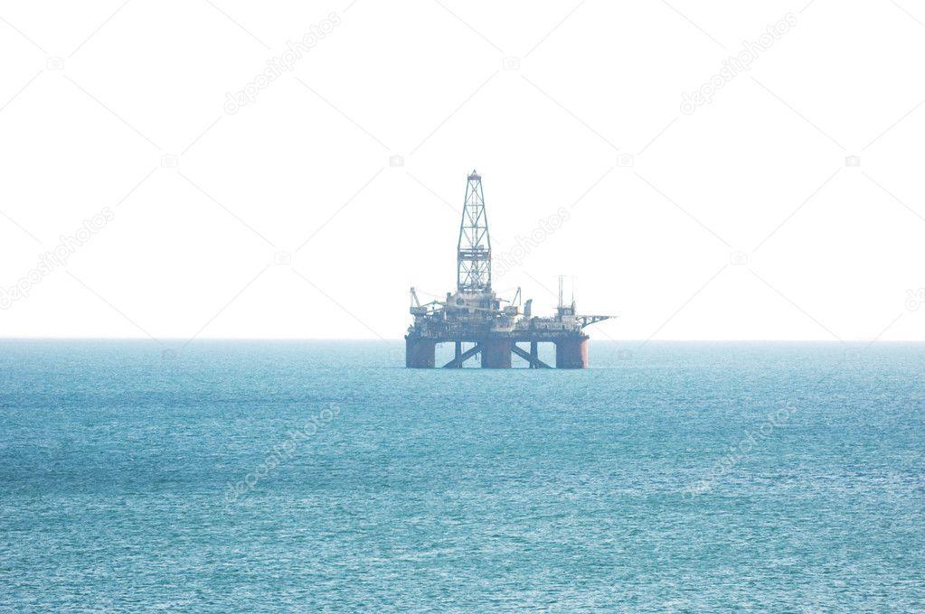 Oil platform in the Caspian sea